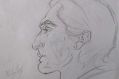 Schizzo Ritratto Uomo di Profilo