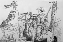 Tex Willer su Cavallo con Indiano