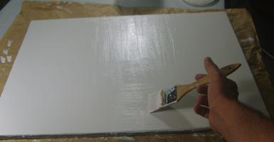 Imprimitura di una Tela
