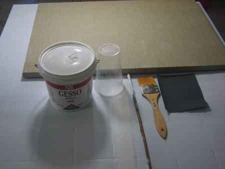 Imprimitura di una Tela - Materiali