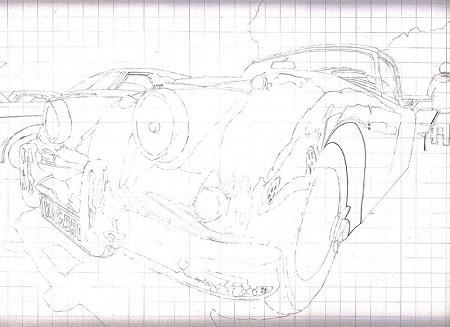 Questa immagine contiene il disegno di una Jaguar KAS 560