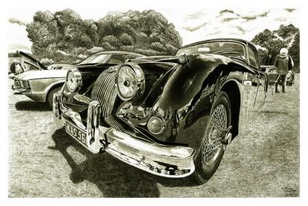 Disegno finito della Jaguar Kas 560