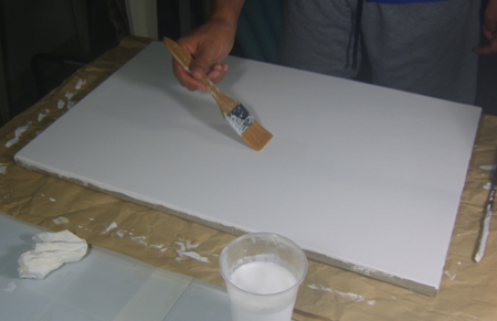 Rifinitura Colla su Tela con Imprimitura