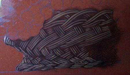 Canestra di Frutta di Caravaggio - Abozzo del Cesto di Vimini