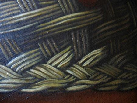 Canestra di Frutta di Caravaggio - Dettaglio Cesto di Vimini