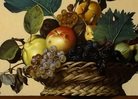Canestra di Frutta di Caravaggio - Dettaglio