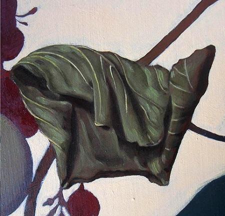 Canestra di Frutta di Caravaggio - Foglia di vite accartocciata