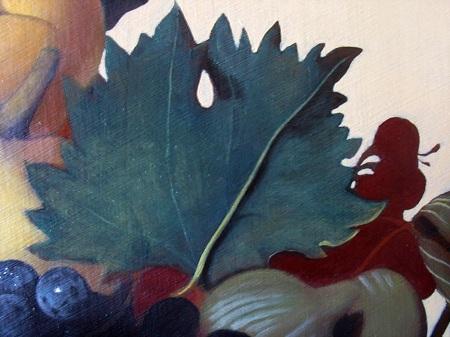 Canestra di Frutta di Caravaggio - Foglia di Vite