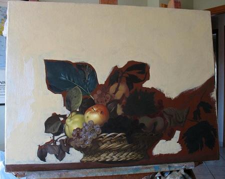 Canestra di Frutta di Caravaggio - Sfondo