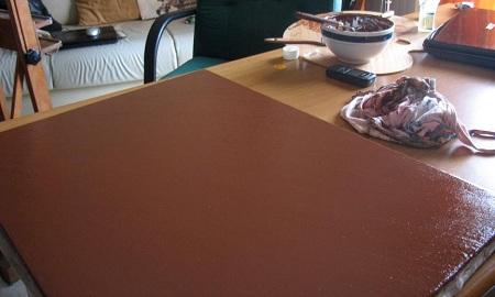 Canestra di Frutta di Caravaggio - Imprimitura