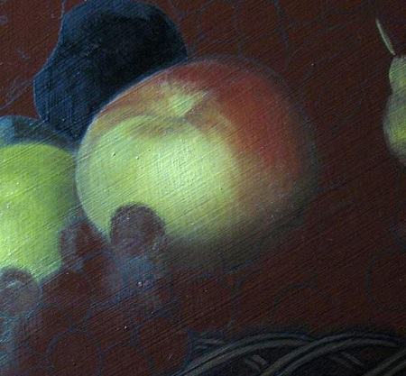 Canestra Frutta Caravaggio - Strato colore della mela