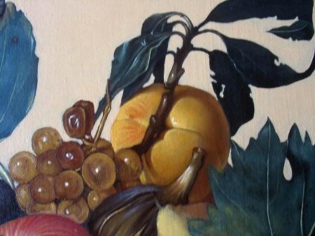 Canestra di Frutta di Caravaggio - Uva Secca e Pesca