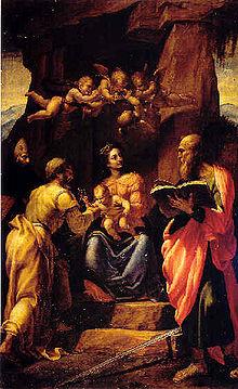 Madonna con bambino e santi di Giovanni Paolo Lomazzo