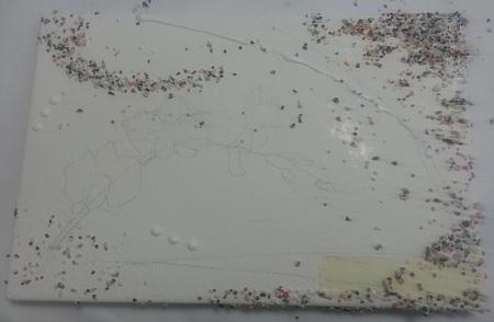 Quadro Materico - Sfondo senza colore