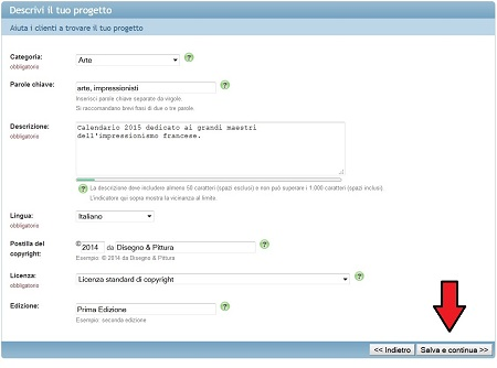 Modifica i dati del Progetto