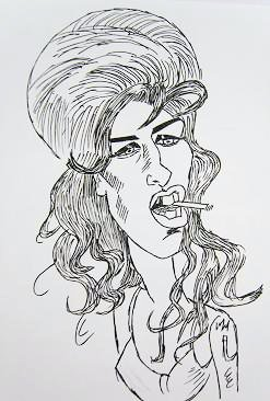 Caricatura Amy Winehouse