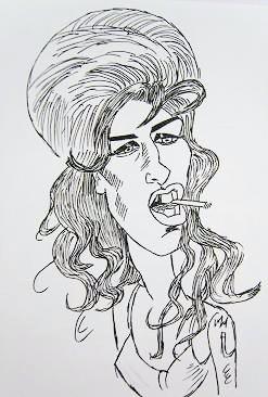 Caricatura Amy Winehouse