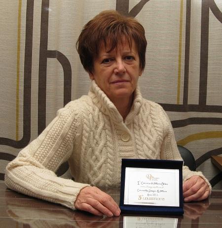 Anna Maria Castagnetti con il 3° Premio