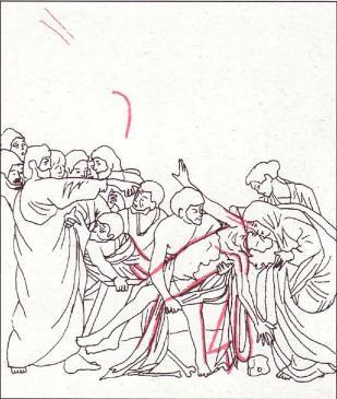 Incisioni nella Resurrezione di Lazzaro di Caravaggio