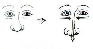 caricatura forma T