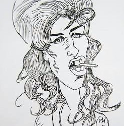 Caricatura di Amy Winehouse