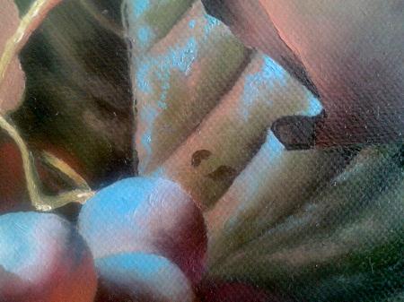 Dipingere Gocce di Acqua su Foglie