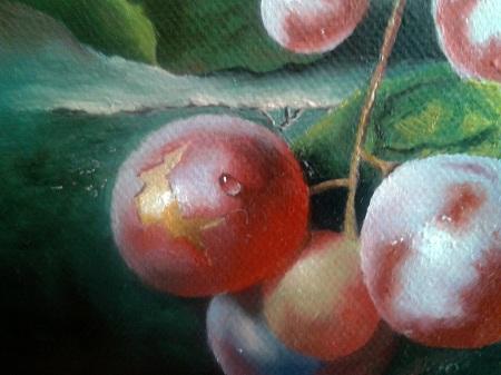 Dipingere Gocce di Acqua su Uva