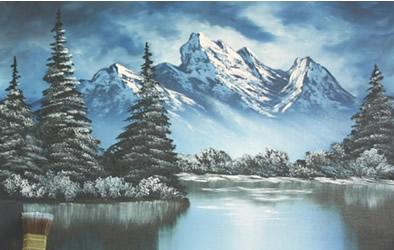 Paesaggi invernali da dipingere disegno pittura for Paesaggi semplici da disegnare