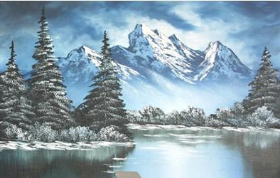 Paesaggi invernali da dipingere disegno pittura for Paesaggio invernale disegno