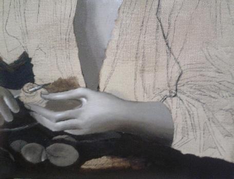 Dipingere una mano in chiaroscuro