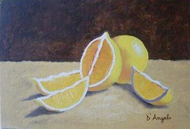 dipingere studio natura morta limoni