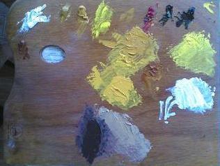 dipingere natura morta limoni tavolozza