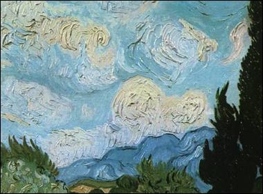 Paesaggio di Van Gogh con impasto