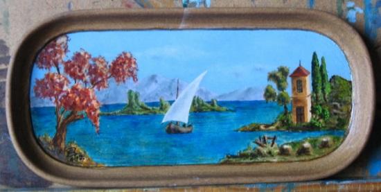 Un Utile Divertimento – Dipingere un vassoio di legno