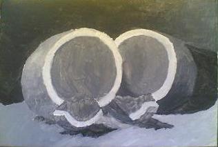 natura morta angurie pittura olio