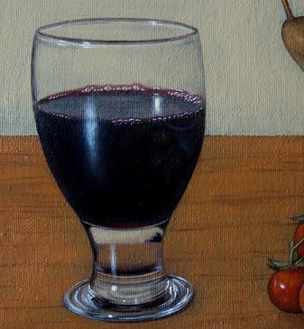 Natura Morta con un Bicchiere di Vino