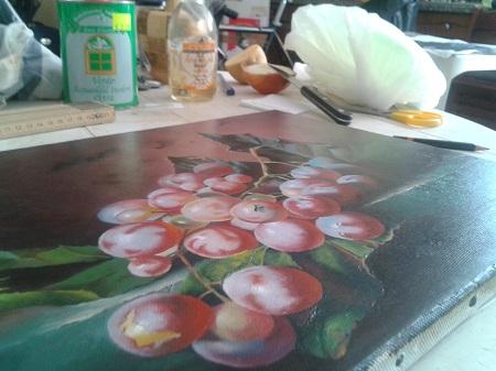 Oliatura - dipinto controluce