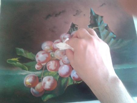Oliatura - rimozione olio eccesso uva