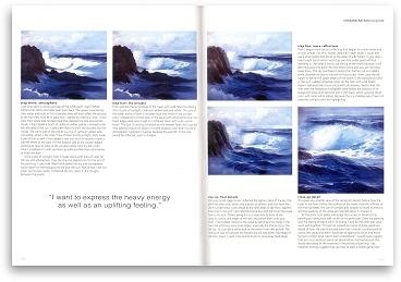 Painting the sea in olis using special effects - Section 3