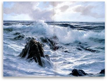 Painting the sea in olis using special effects - Section-4
