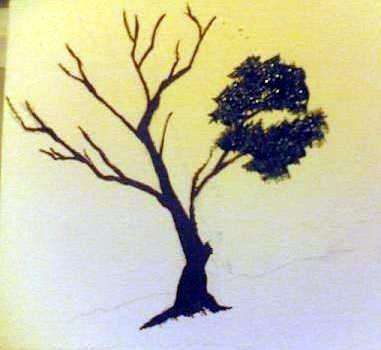 Dipingere Un Albero Disegno Pittura