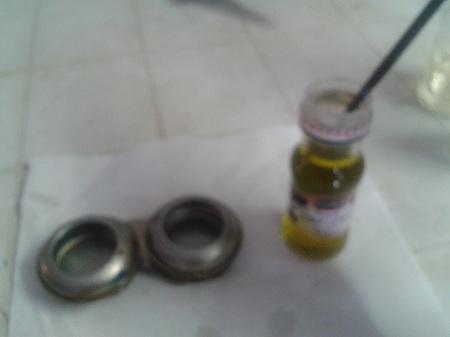 Pulire pennello con olio di oliva