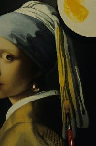 Ragazza con l'orecchino di perla di Johannes-Vermeer