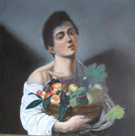 Ragazzo con il canestro di frutta - Fase 3