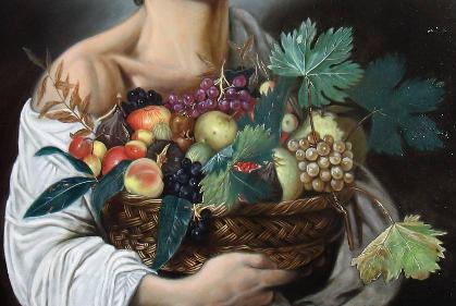 Ragazzo con il canestro di frutta - Fase 8