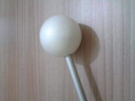 Poggiapolso - Asta e sfera incollate