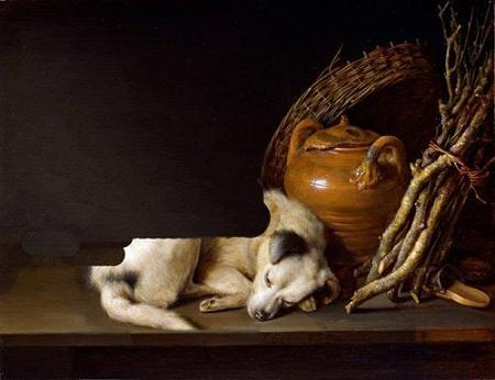 Ritratto di Mimmo in contesto seicentesco