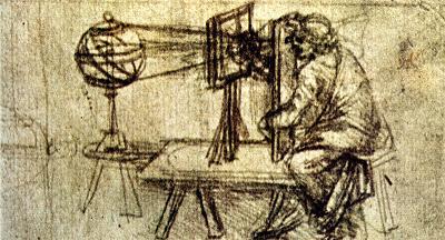 Tecnica della copia con vetro di Leonardo da Vinci