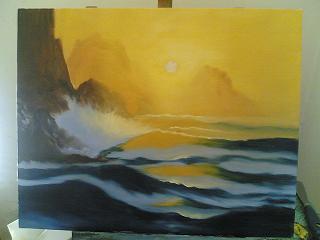 dipingere marina tramonto