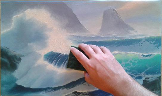 Lavatura di un dipinto prima della Verniciatura